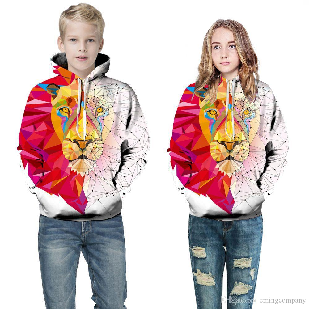 17dd8db82 2019 Kids Designer Clothes Boys Girls 3D Digital Printing Abstract ...