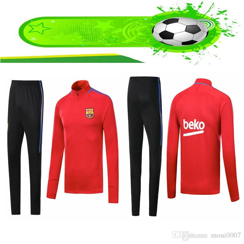 low cost 3fe19 8d9d4 2019 2020 Barcelona soccer jerseys adult kit training suit