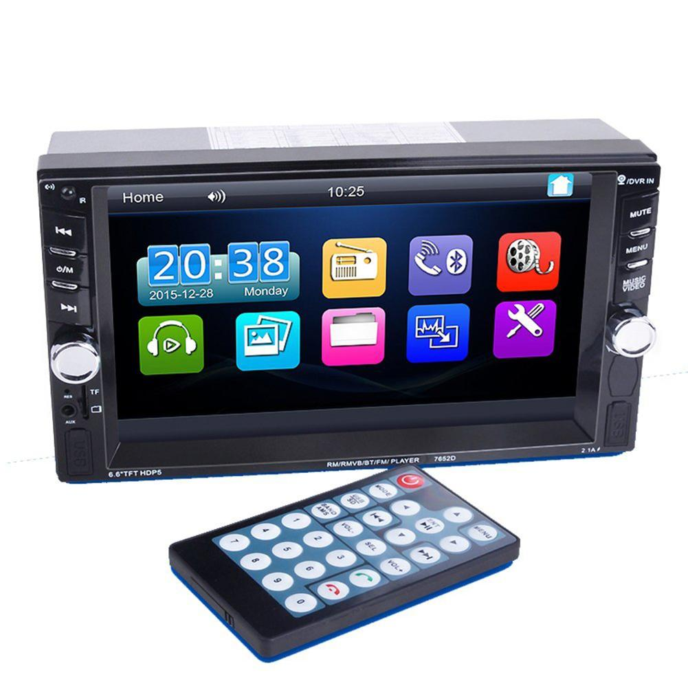 6.6-inch Touch Screen Double Din Car Radio Stereo Bluetooth MP5 Player With Backing Camera