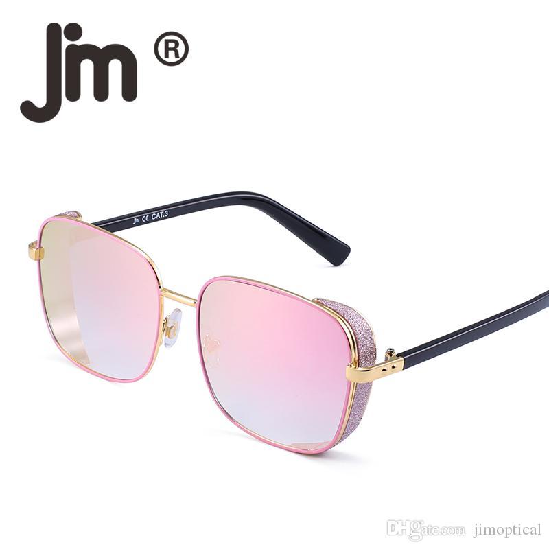 b88cd4df50 JM Retro Oversized Square Sunglasses Metal Frame Gradient Lens Women Men Eyewear  Vintage Eyeglasses Street Club Style Victoria Beckham Sunglasses ...