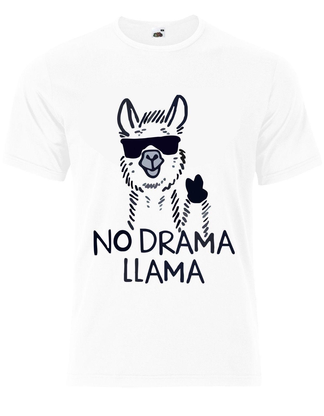 6d280c7aa No Drama Llama Funny Animal Quote Mens Tshirt Tee Top AJ84 Buy Shirts T  Shirt Designers From Passion90, $11.48| DHgate.Com