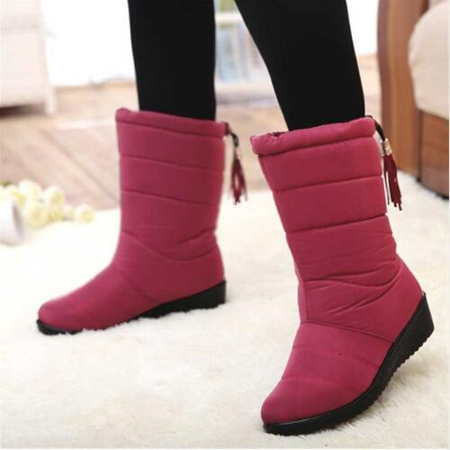 04a33753d0d1 Fashion Winter Women Boots Mid Calf Down Boots High Bota Waterproof Ladies Snow  Shoes Woman Plush Insole Botas Mujer Invierno Thigh High Boots Booties From  ...