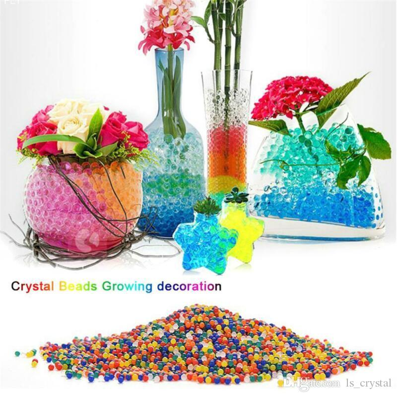 225 & 10000 pcs Water Beads Ball Flower Vase Crystal Soil Mud Home Living Room Decoration Accessories DEC530