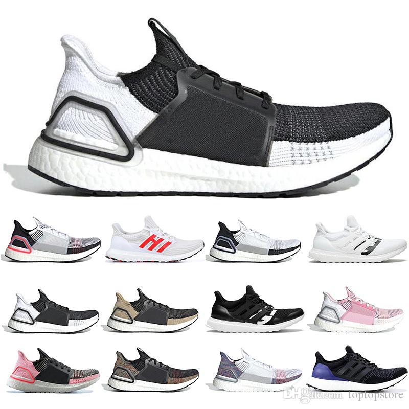 photos officielles d8332 7abb0 Adidas Boost Ultra boost 19 hommes femmes chaussures de running Cloud blanc  noir Oreo ultraboost 5.0 formateurs pour hommes baskets de designer de ...