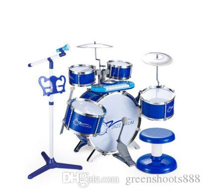 Jazz Drum Set Beginner'S Toy Educational Toy Baby Percussion Boy Girl Music Develop Interest Hobby Acting Talent Novelty Gifts Online Novelty Gift Items ...