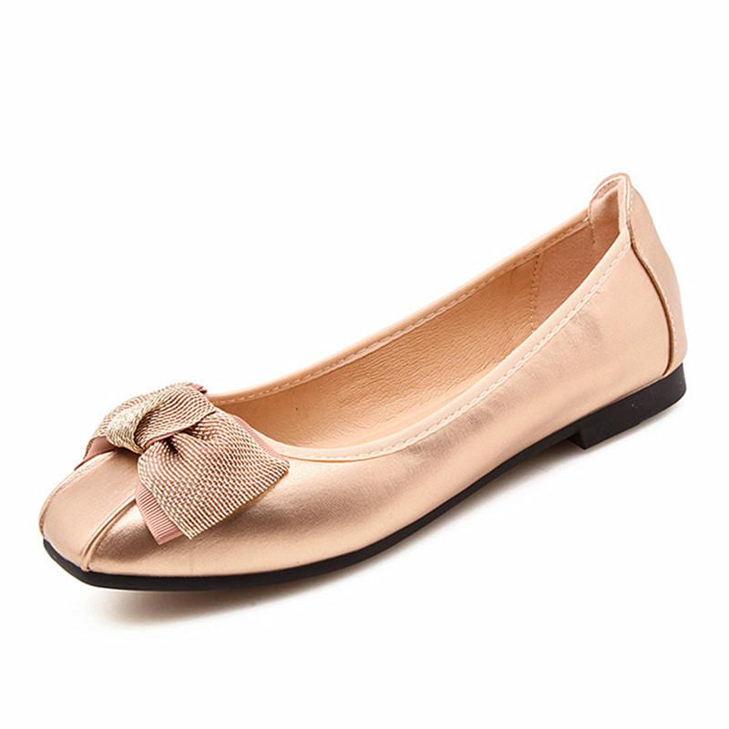 08bbca7390681 Soft Foldable Ballerina Shoes Butterfly Knot Flats Women Slip On Shoes For  Spring Summer Ballet Flats Teenage Girls Flat Dress Shoes For Men Suede  Shoes ...