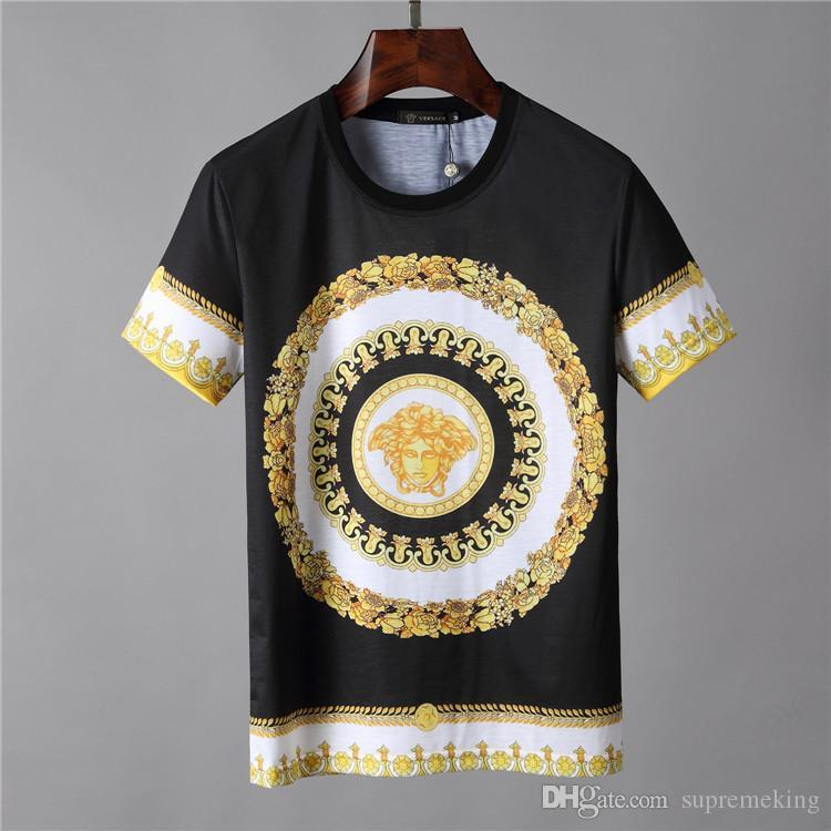 bafe0b5b 19ss New Season Baroque Print T SHIRT Men Ver T Shirts Sace Mens ...