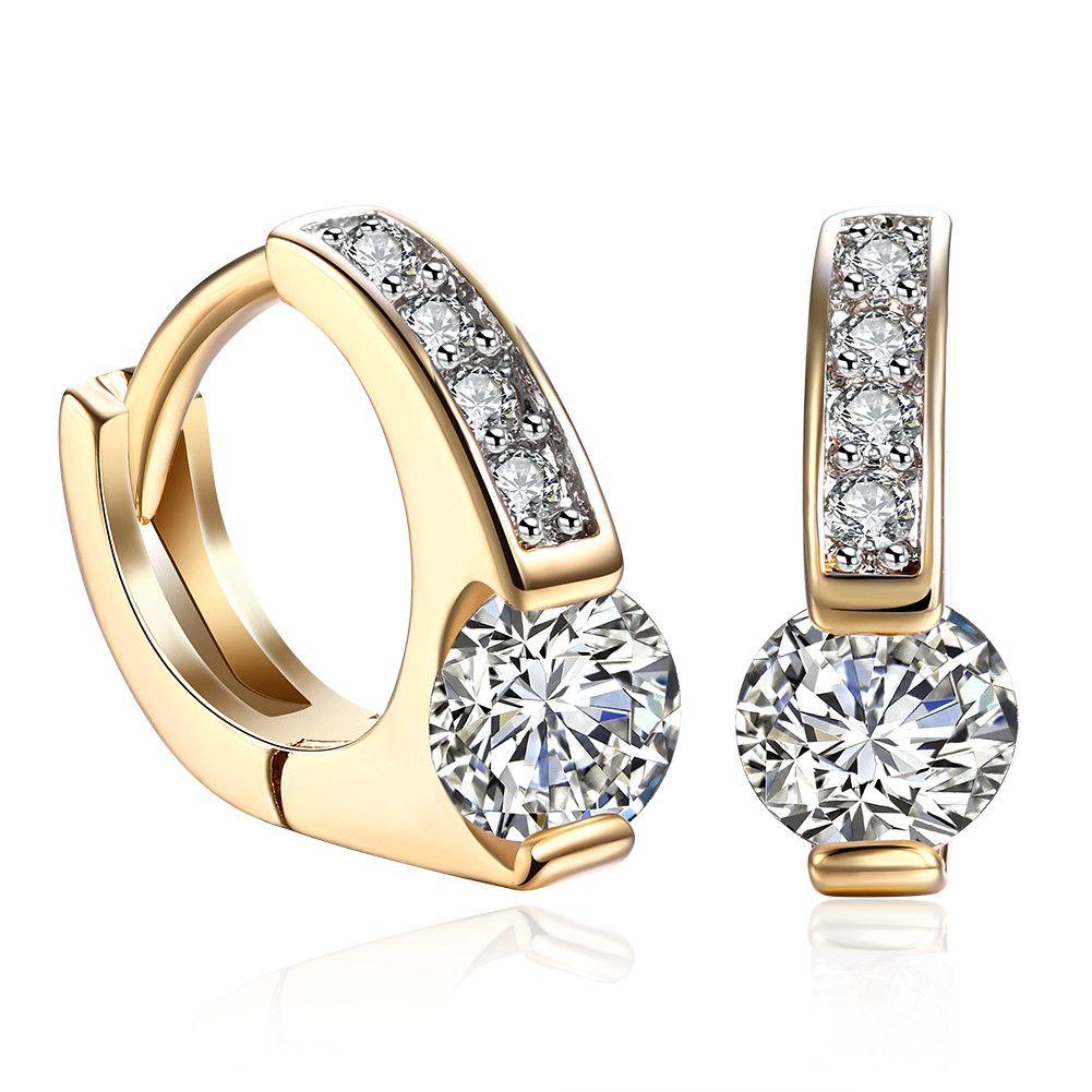 3203d5638 Romantic Elegant Earrings Geometric Pattern Mosaic Zircon Clip-on&Screw Back  Earring Accessories Women's Christmas Jewelry Gifts POTALA104