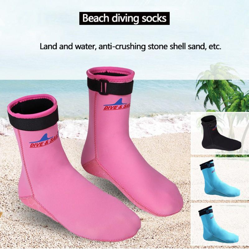 dcfd7766b6b new Diving Socks Beach Socks Boots Neoprene Water Shoes Beach Booties  Snorkeling Diving Surfing Boots for Men Women