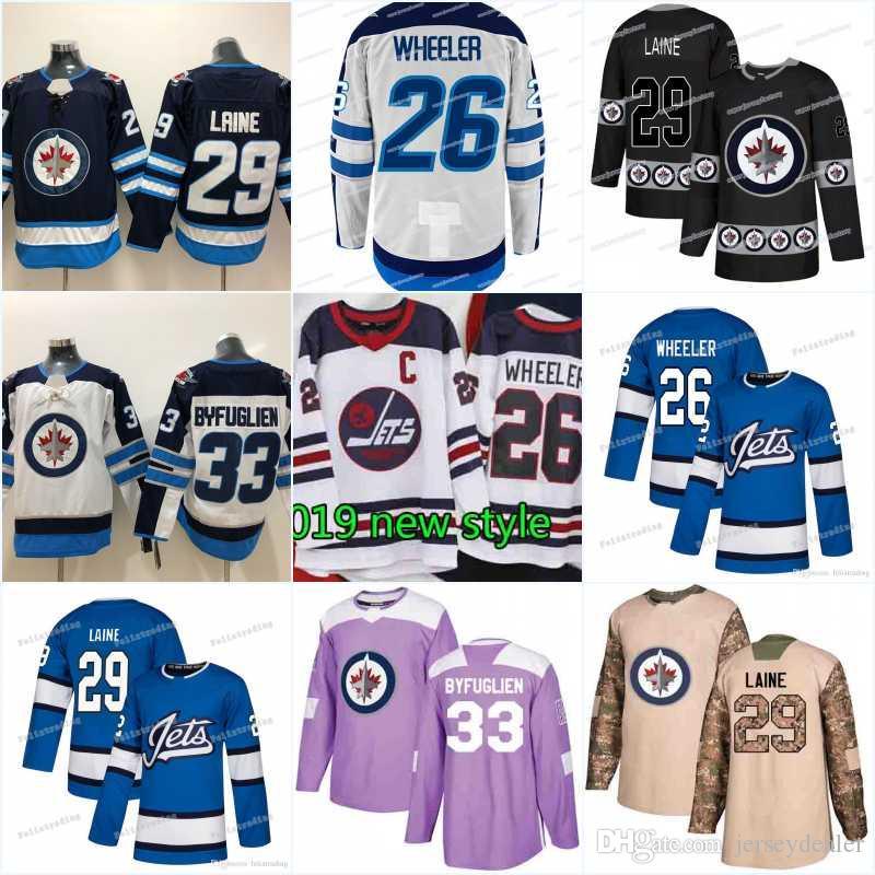 Men New Season Winnipeg Jets Jersey 7 Ben Chiarot 5 Dmitry Kulikov 44 Josh  Morrissey 70 Joe Morrow 57 Tyler Myers Hockey Jerseys Winnipeg Jets Jersey  7 Ben ... 71d251cb8