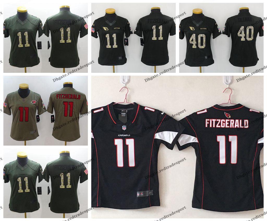 new styles b6e3b faadf Womens Camo Salute to Service Arizona Ladies Cardinals 11 Larry Fitzgerald  40 Pat Tillman Girls Football Jersey