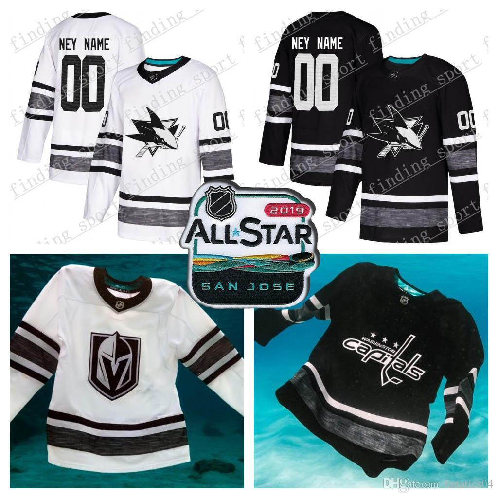 2019 Customized Men Women Youth San Jose Sharks 2019 All Star Game Parley  Authentic Hockey Jersey White Black 65 Karlsson 19 Thornton88 Burns From ... 0d1cebe67