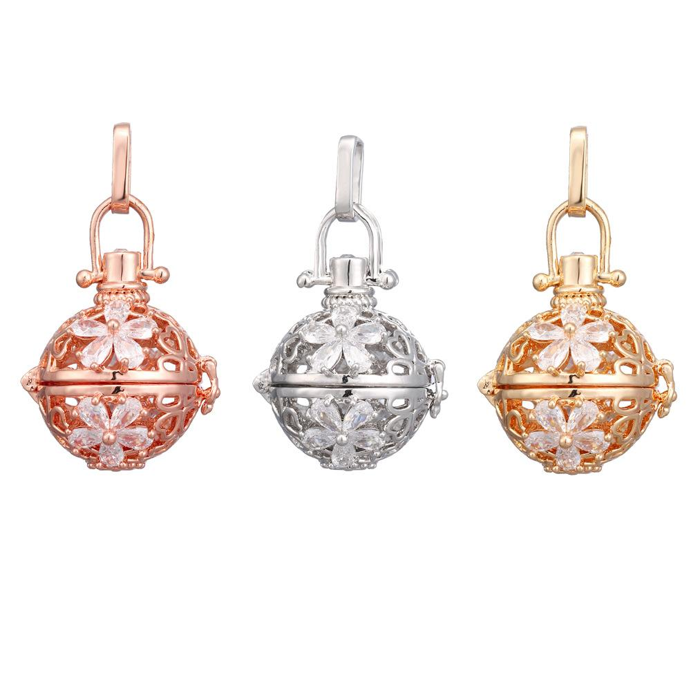 Crystal Flower Mexican Chime Ball Angel Ball Perfume Diffuser Pregnant Pendant For Women Gift