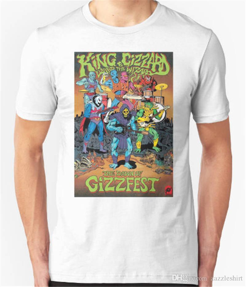 Basic Tops Men Short Sleeve Compression King Gizzard And The Wizard T Shirts