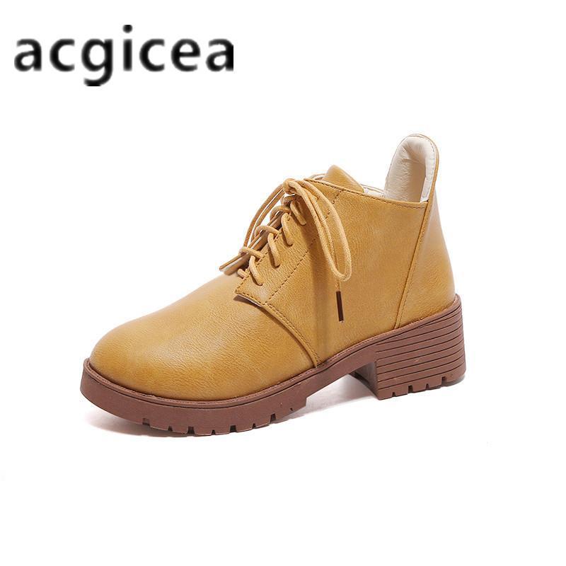 Acquista Designer Dress Shoes 2019 Inverno Nuove Donne Selvagge Casual Da  Donna Di Spessore Con Stivaletti Di Pizzo Stivaletti Moda Donna Semplice E  ... 335c813316c