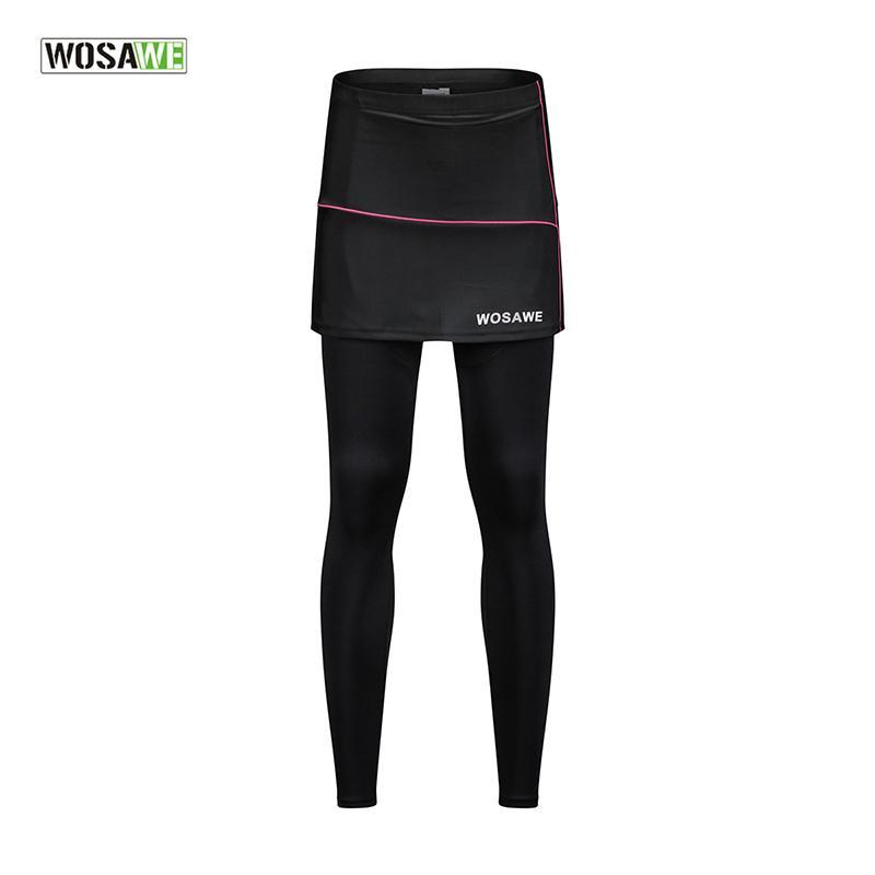 Compre WOSAWE Pantalones De Ciclismo Pantalones Deportivos Para Correr  Leggings Acolchado Transpirable Gimnasio Ropa Deportiva Fitness Mujeres  Falda ... 0100f3cf0571