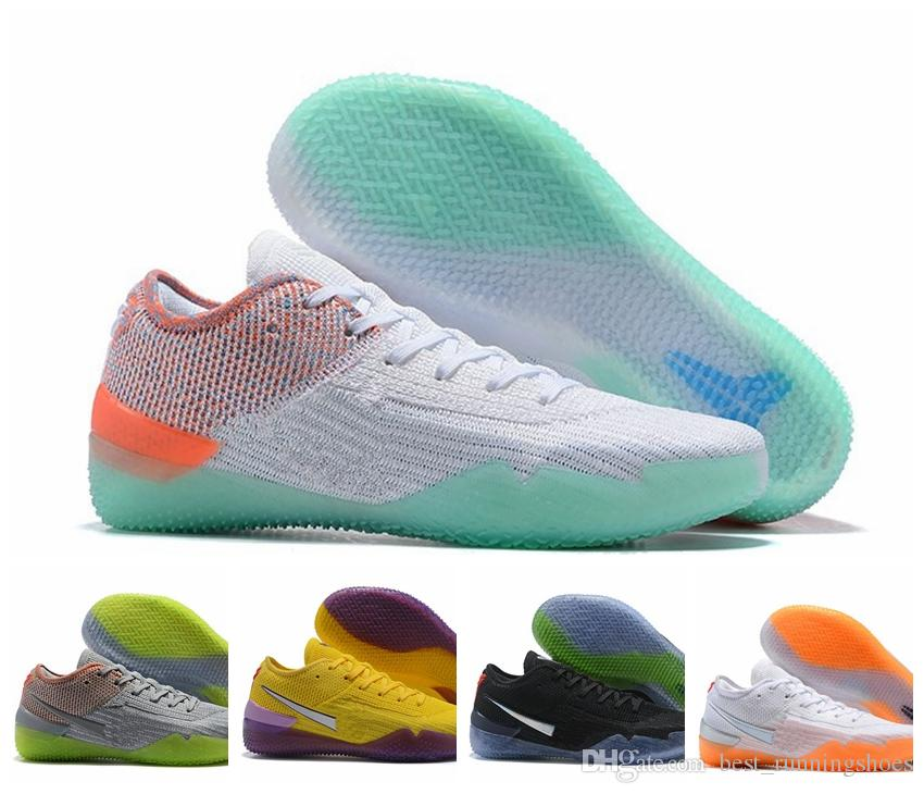 72310b301fd0 2019 2019 KOBE 360 AD NXT Shoe Yellow Orange Strike Derozan Basketball Shoes  High Quality Mens Trainers Wolf Grey Purple Sneakers Size 40 46 From ...