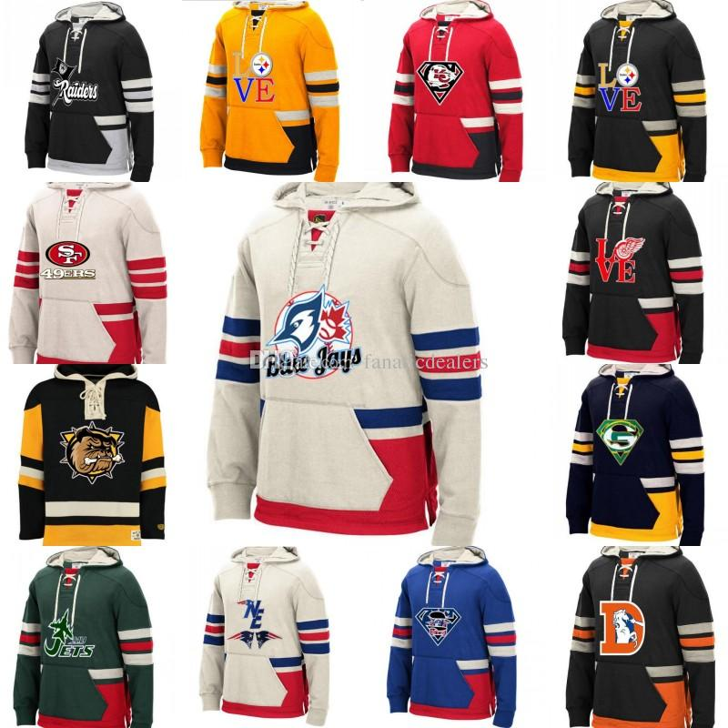 online retailer 524f2 c6d00 Hockey Hoodies Jersey Custom-Made Any Name Any Number Logo Stitched  sportswear Hockey Jersey S-4XL Free Shipping