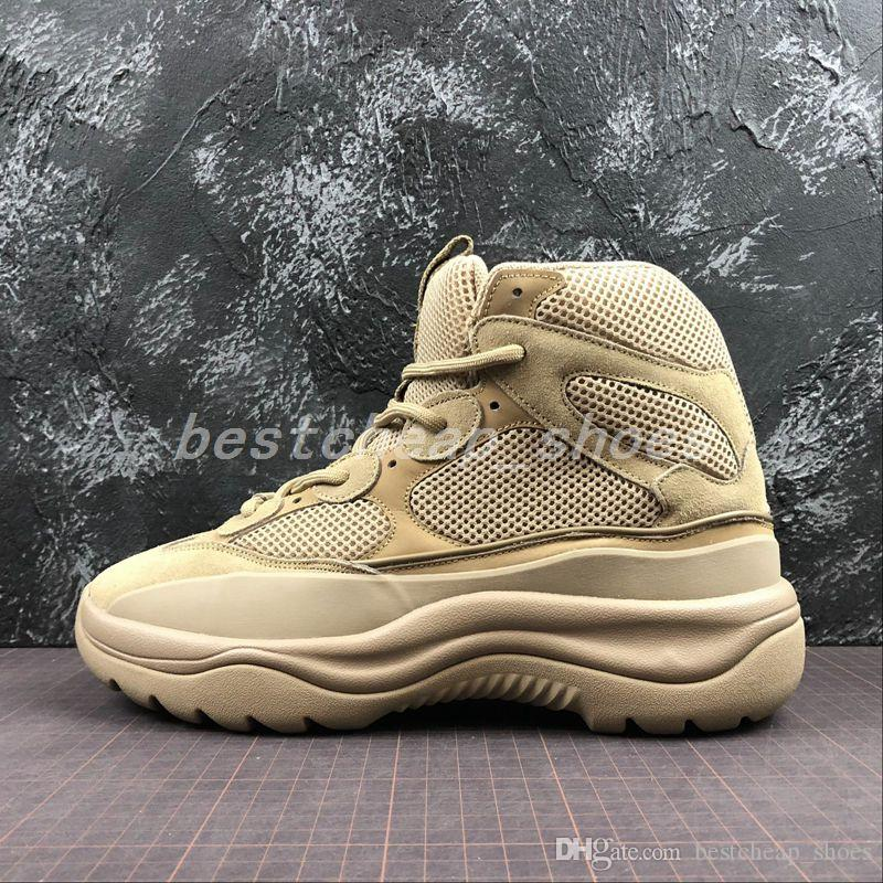 19c52e85d7ca4 2019 2019 New Season 6 Desert Rat Boot 6s Graphite Black Military Style  Chunky Men Seankers Running Shoes Trainers Chaussures Mens Designer Boots  From ...