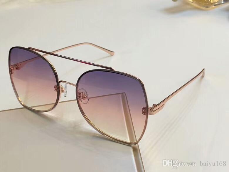 d44cd33f6 0656 Rose Gold/Pink Sunglasses Women Luxury Designer Sun Glasses Eye ...