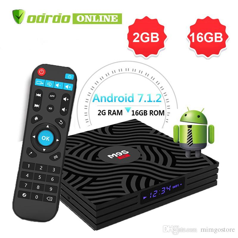 2019 New M9S W6 Android TV Box 1G Ram 8G Rom OTT Internet Mediaplayer New  Chip S905W Quad Core TV boxes Better A95X H96 TX2 TX3 T95Q