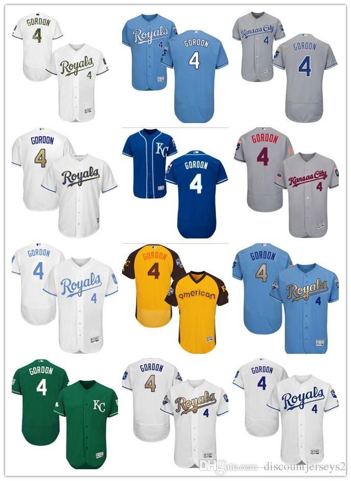 new concept acd56 bfb21 2019 can City Roya Jerseys #4 Alex Gordon Jerseys men#WOMEN#YOUTH#Men s  Baseball Jersey Majestic Stitched Professional sportswear