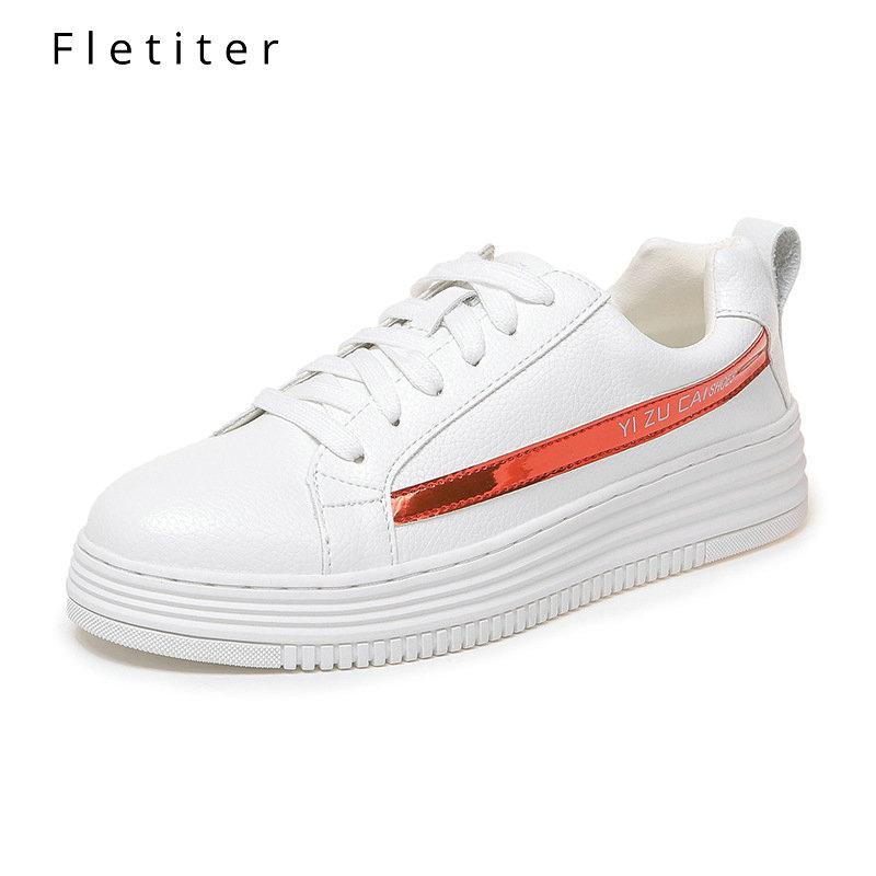 New 2019 Sneakers Spring autumn Breathable Comfortable Shoes Women Flats Soft Leather Fashion Women's Casual  White Shoes