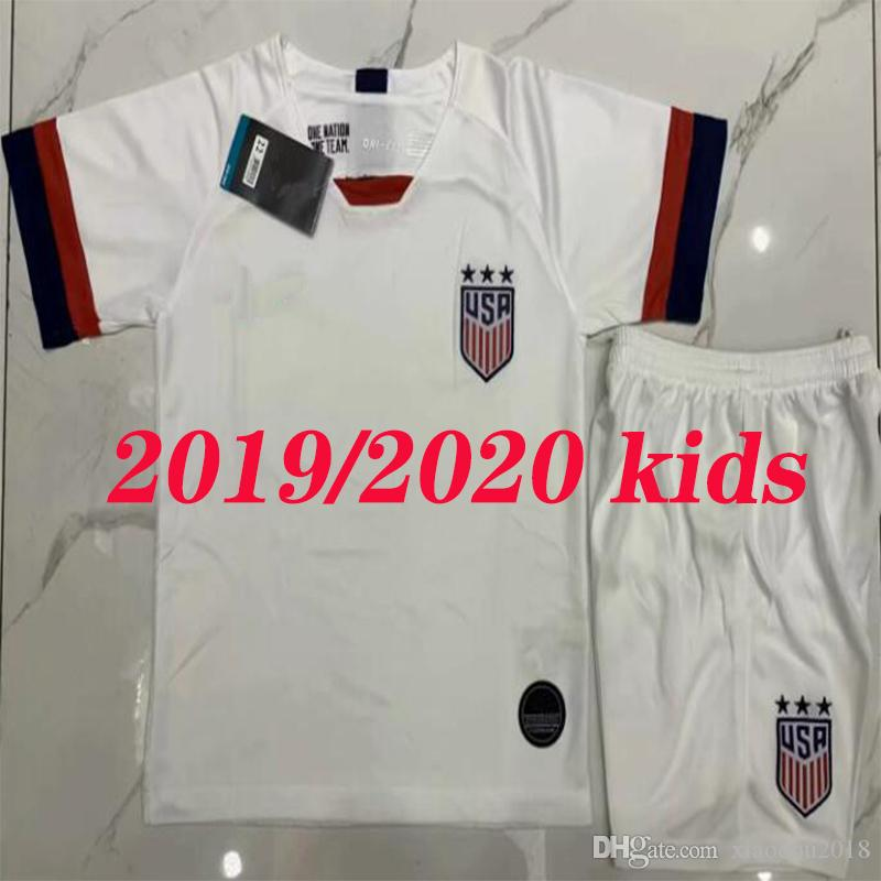 2414a4e6f62 2019 2019 2020 USA Kids Kits PULISIC Soccer Jersey 2020 MORGAN DEMPSEY  BRADLEY ALTIDORE WOOD America Child Football Child United States Shirt From  ...