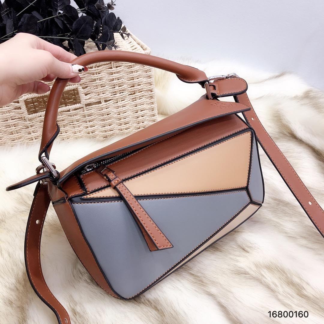 4969f808147c Brand New Designer Shoulder Bags Leather Luxury Handbags Wallets High  Quality For Women Bag Totes Geometric Stitching Color Crossbody Bags Black  Handbag ...