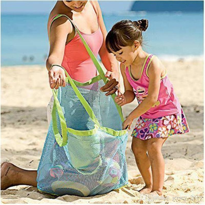 Mesh Beach Bag Portable Foldable Swimming Bag for Children Beach Toy Baskets Storage Kids Outdoor Swimming Waterproof Bags #138173