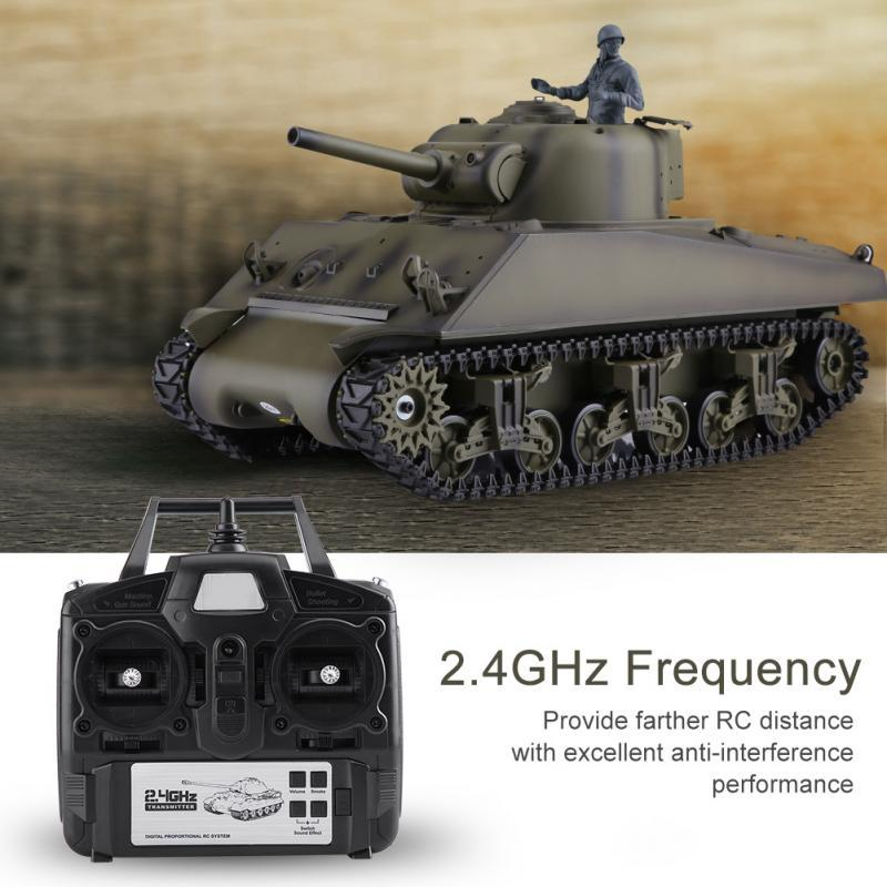 64657cc05cde Heng Long 3898 1 1 16 Scale 2.4GHz Remote Control Simulation Model Sherman  M4A3 RC Tank For Kids Boy Cool Gifts Rc Vehicle Kids Remote Control Car  From ...