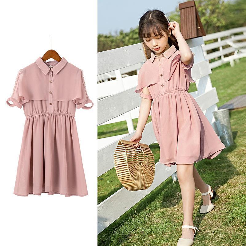 8cb365cd9e4c6 Brand Girls Princess Dress Kids Summer Clothes 2019 New Girls Chiffon Dress  Children Baby Cute Temperament,#5092