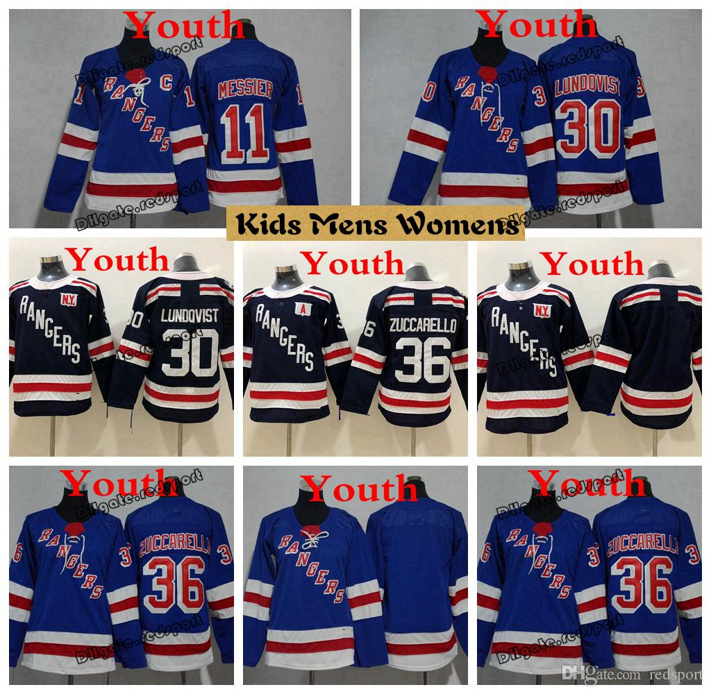 2019 2019 Youth New York Rangers Hockey Jerseys 11 Mark Messier 30 Henrik  Lundqvist Kids Boys Womens Ladies Stitched Shirts From Redsport 1f072649d3