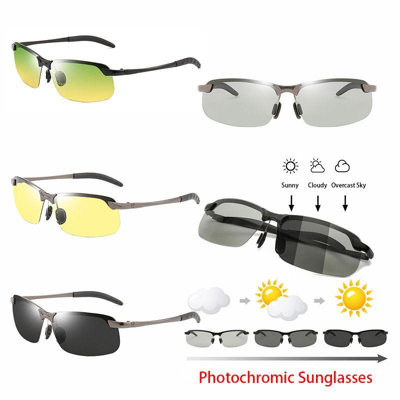 6f54236acae Photochromic Sunglasses Metal Frame Men Polarized Night Vision Sunglasses  Anti Glare Driving Sun Glasses UV400 Protection Sunglasses At Night Lyrics  Glasses ...