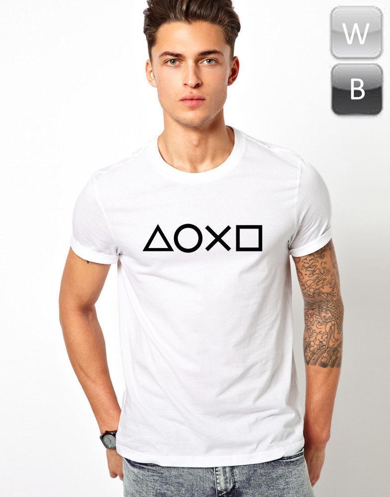 11f19528bb88 Playstation Controller Buttons T Shirt Gaming Game Cool Gift Graphic Tee  Top T Men Women Unisex Fashion Tshirt Crazy T Shirts Designs Ridiculous T  Shirt ...