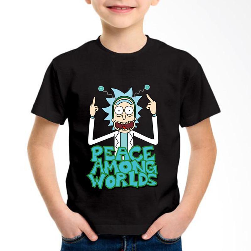 ce92007df Compre Anime Rick Y Morty Impreso Niños Camisetas De Algodón Niños Dibujos  Animados Divertidos Camisetas De Verano Niños   Niñas Tops Casual Ropa De  Bebé