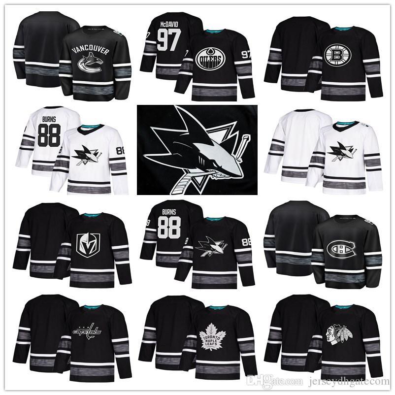 0edcf5e5340 2019 2019 All Star Game Hockey Jerseys San Jose Sharks Chicago Blackhawks  Toronto Maple Leafs Edmonton Oilers Vegas Golden Knights Hockey Jerseys  From ...