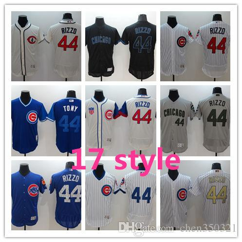 finest selection 58d77 597fa Men Chicago Cubs Jersey #44 Anthony Rizzo Jerseys Custom Baseball Jerseys