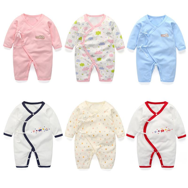 b4df0dfc2 2019 Baby Newborn Rompers Autumn Spring Rompers Infant Baby Jumpsuit ...