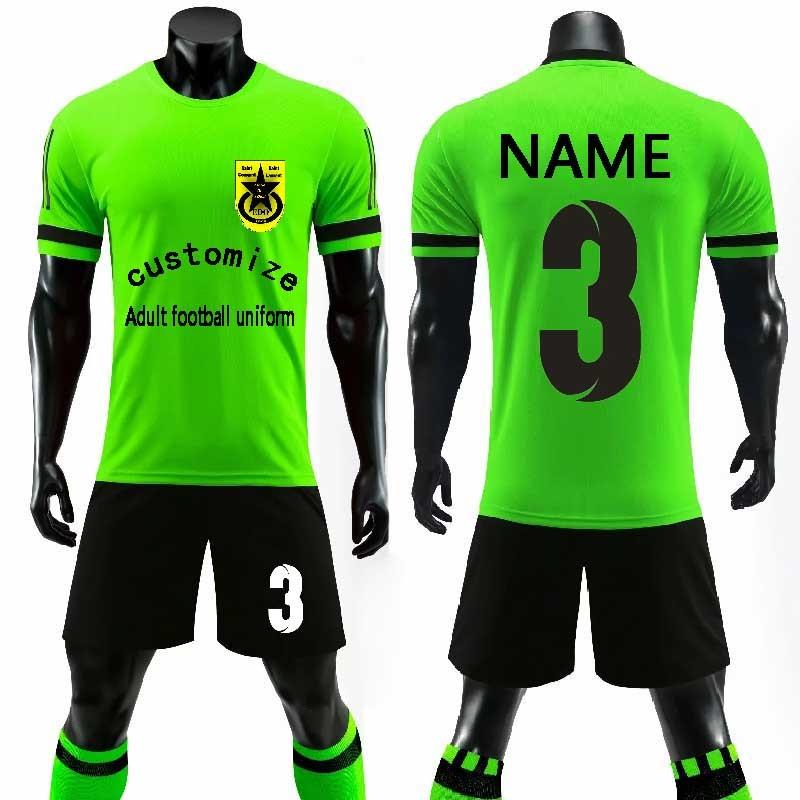 c2d42c4f0 2019 New custom Adult 2018 2019 Soccer Jerseys Set Uniforms Football  clothes Kit Cheap Breathable Football short Shirt Uniforms Tracksuit