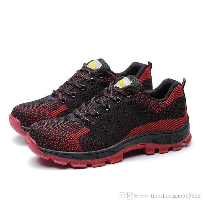 e8d229fc8b Compre 2018 Zapatos De Seguridad Para Hombre Con Punta De Acero Para  Hombres Botas De Montaña Zapatos De Trabajo De Construcción Calzado Para  Hombres ...