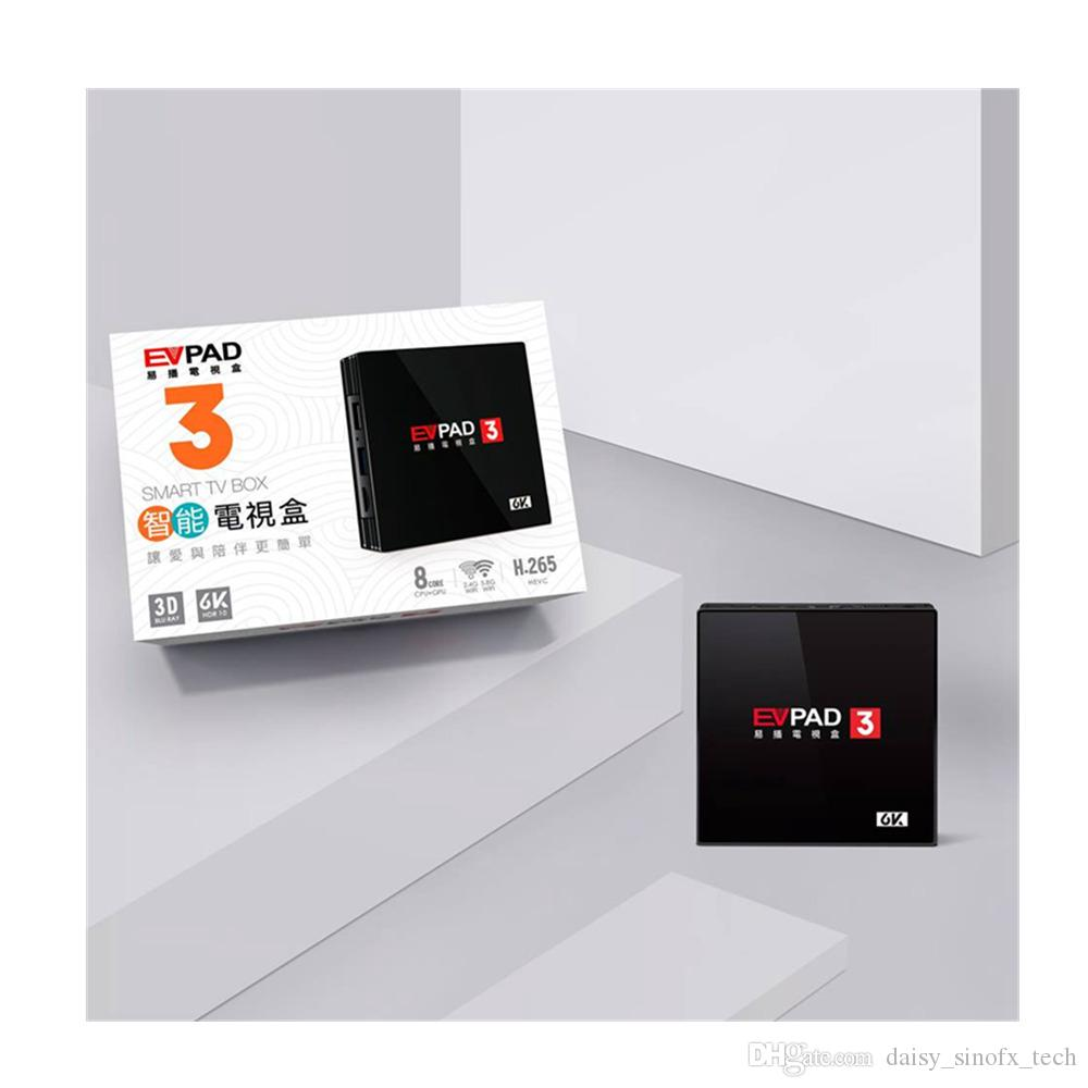 Singapore Fiber TV Set Top Box Evpad 3 Android 7 0 2G/16G Life time IPTV  replace SG Cable tv box V9 Pro V9 super with gift free shipping
