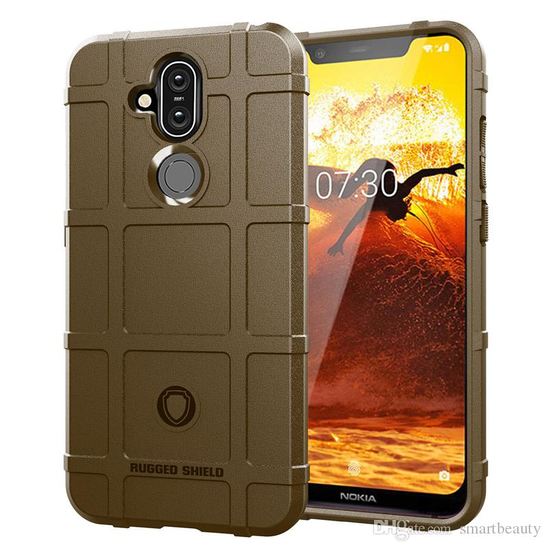 360 Degree Full Body Protection Case for Nokia 8.1 Soft TPU Thick Solid Armor Tactical Protective Cover Case