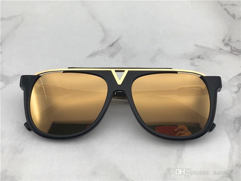 b9e8bad59 Compre Louis Vuitton LV0937 Óculos De Marca Tide Óculos De Moda Óculos De  Sol Novo E Moderno Retro Óculos De Sol De Rua Europeus E Americanos Tiro  Oceano ...