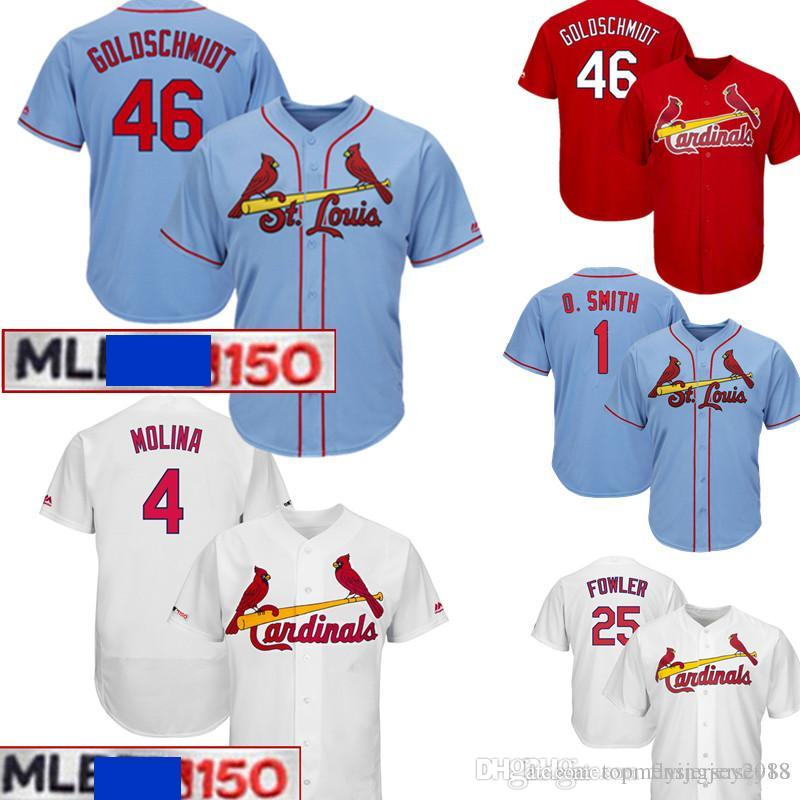 low priced dd347 1b5b4 Cardinals Paul Goldschmidt 4 Yadier Molina Jersey Men's St. Louis Majestic  150th Authentic Collection Player Jersey 1 Ozzie Smith