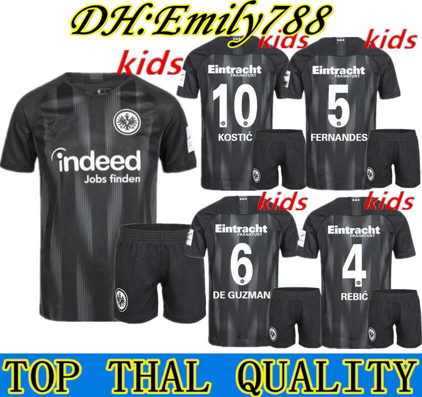 Großhandel Kinder Kit 18 19 Eintracht Frankfurt Trikot Heim Auswärts