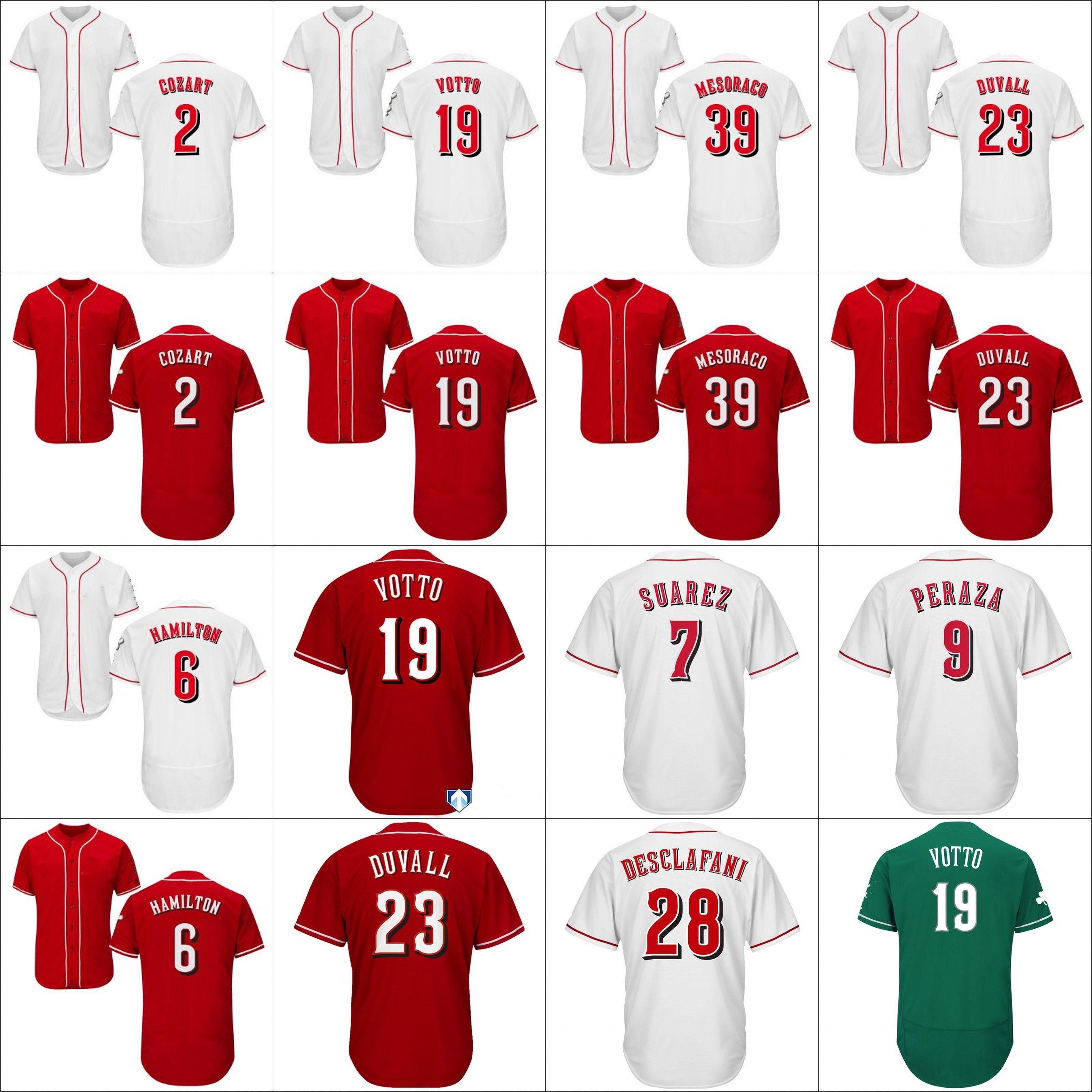 super popular f6ebc a2512 Custom Cincinnati Reds Jersey 150th Gennett Suarez Barnhart Joey Votto  Lorenzen Iglesias Matt Kemp Roark Yasiel Puig Sonny Gray