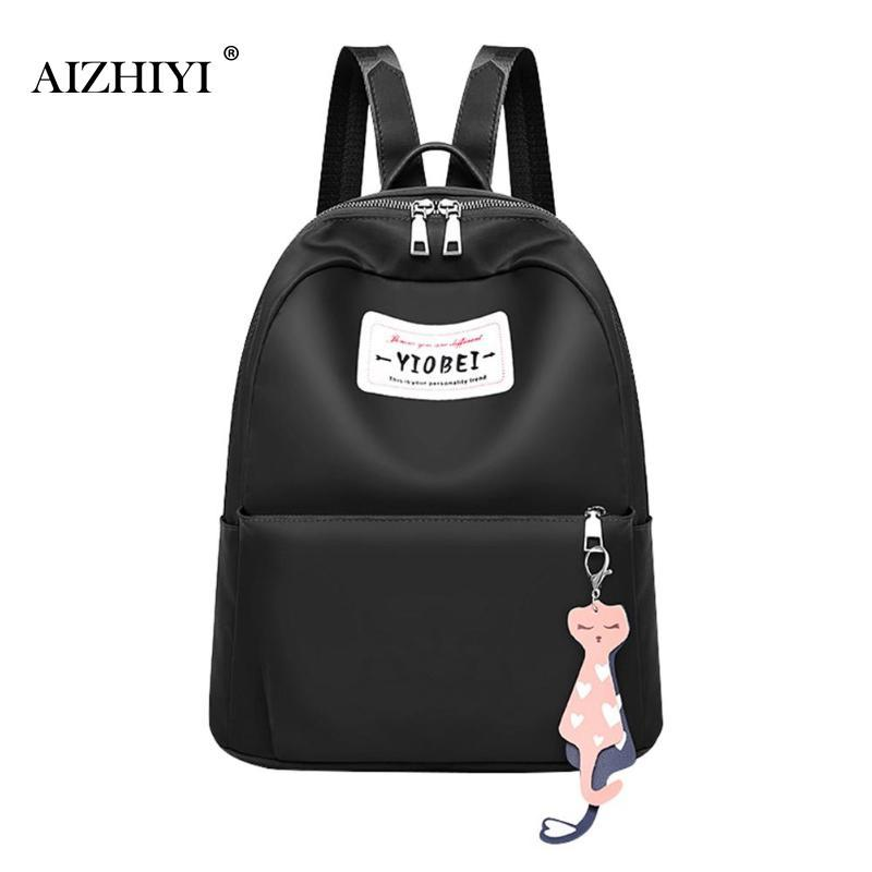 Casual Nylon Backpack for Women Large Capacity School Bags for ... 8f77c8b15e80