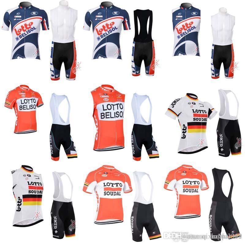 52b94e29df4 LOTTO 2018 Lotto Team Men S Short Sleeve Cycling Jersey Sets Maillot  Ciclismo Summer Bicycle Bike Clothing Cycle Bib Shorts Sets C0720 Biker  Shirts Vintage ...
