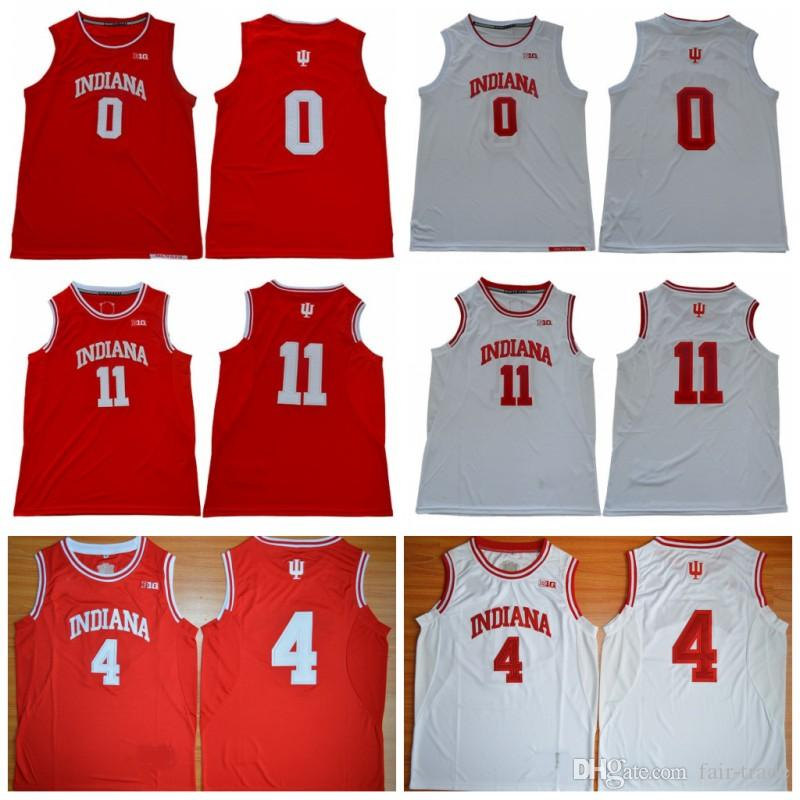 best service 25618 59434 NCAA Indiana Hoosiers #0 Romeo Langford 4 Oladipo 11 Thomas Victor Isiah  Devonte Green Red White Stitched College Basketball Hot Sale Jersey